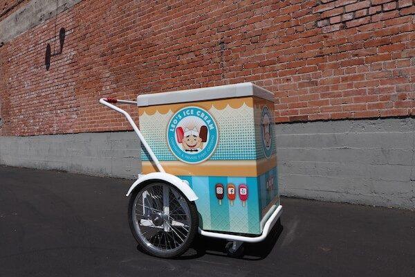 Phoenix ice cream catering push cart Leo's Ice Cream