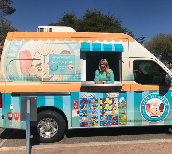 Leo's Ice Cream Phoenix ice cream catering truck