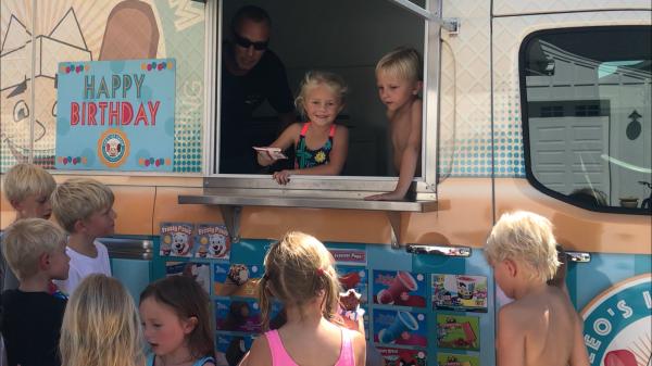 Phoenix ice cream catering truck birthday party